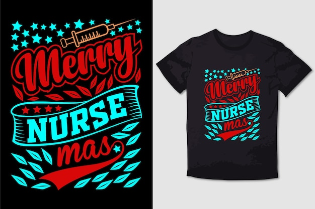 Natale tshirt design buon infermiere