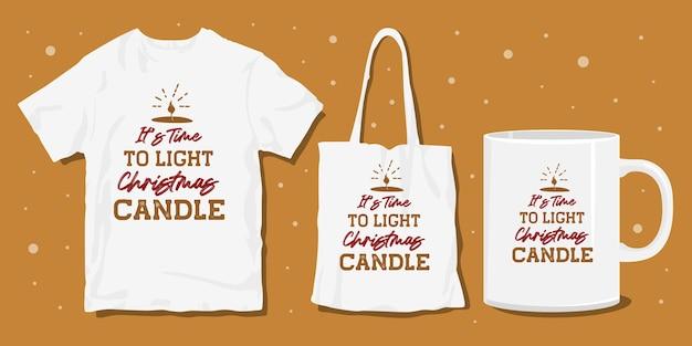 Design tipografico natalizio per merce