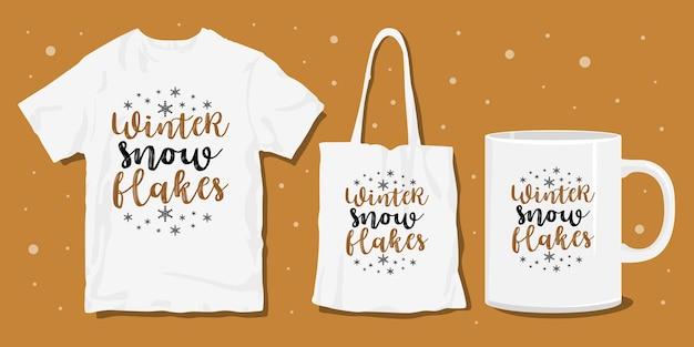 Tipografia di natale merchandise design