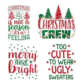 Set tipografia natalizia