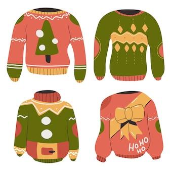 Set di brutti maglioni natalizi