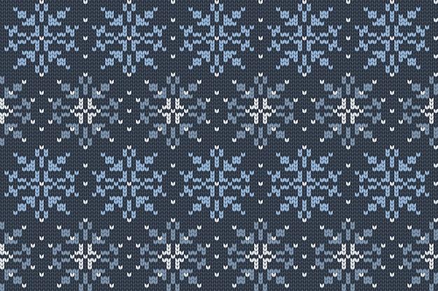 Motivo a maglia per le vacanze di natale e inverno per plaid
