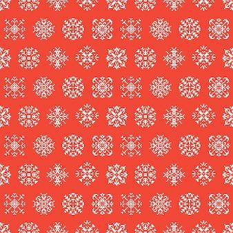Fondo senza cuciture del pixel dei fiocchi di neve di vacanze invernali di natale. modello