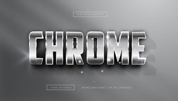 Effetto testo argento cromato modificabile