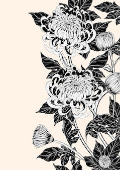 Fiore del crisantemo a mano che disegna