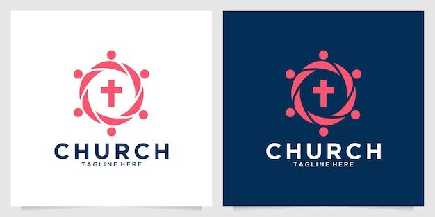 Design moderno del logo della comunità ecclesiale