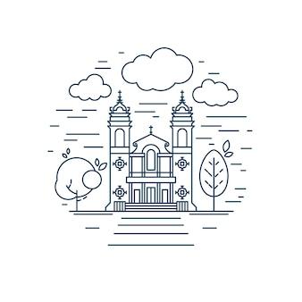 Linea di chiesa rotonda