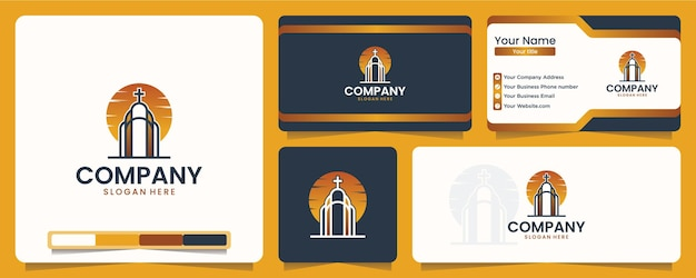 Chiesa, religione, design del logo e biglietto da visita