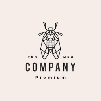 Modello di logo vintage cicala hipster