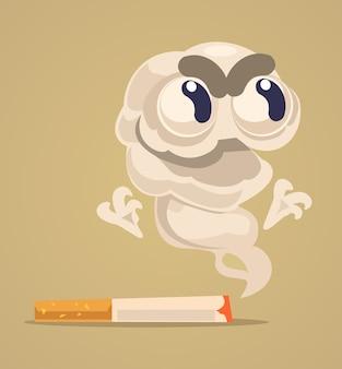 Carattere del mostro di sigaretta.