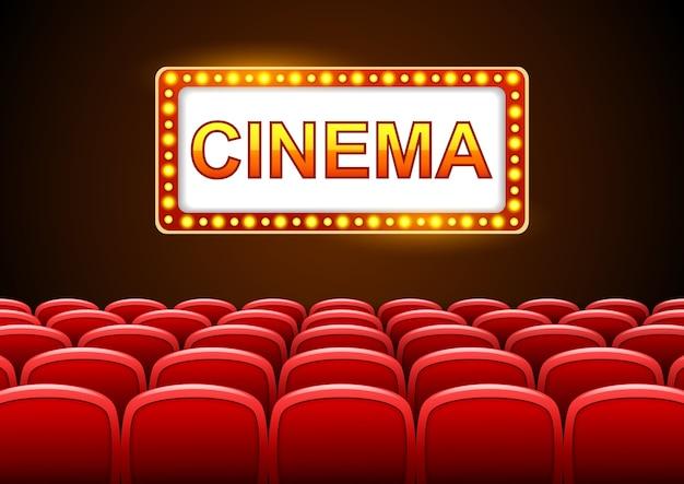 Design del cinema su sfondo nero