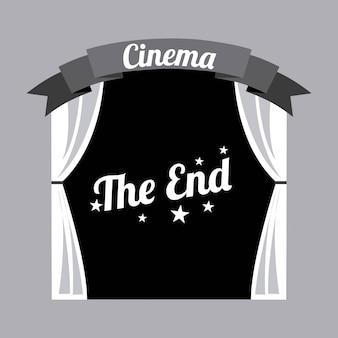 Progettazione del cinema sopra l'illustrazione grigia di vettore del fondo