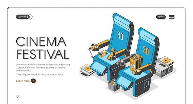 Modello di landing page del festival del cinema