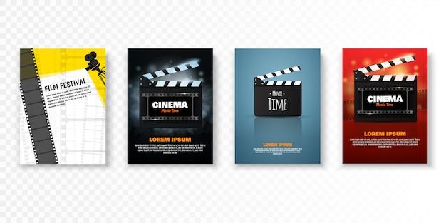 Modello di poster o flyer festival del cinema.