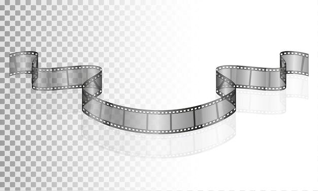 Cinema film trasparente stock illustrazione isolato su sfondo bianco