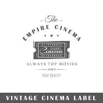 Etichetta del cinema isolata