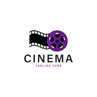 Illustrazione vettoriale del modello di vettore del logo del cinema