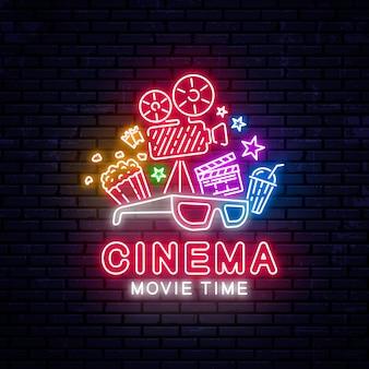 Insegna al neon cinema