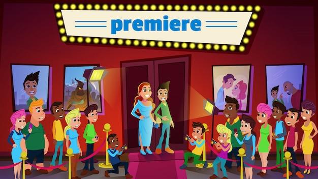Cinema premiere e ceremony show con superstars