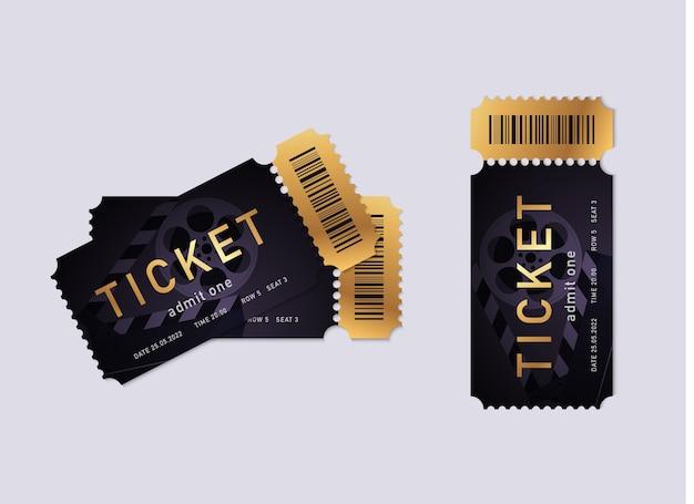 Illustrazione di biglietti del cinema