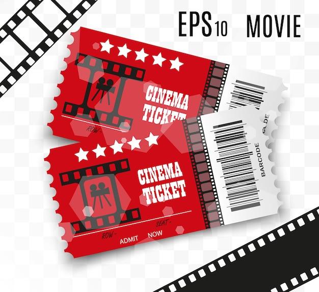 Biglietti del cinema isolati