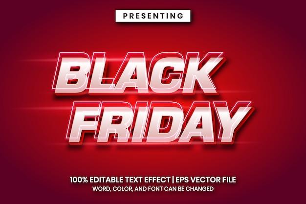 Modello di effetto di testo del venerdì nero cinematografico
