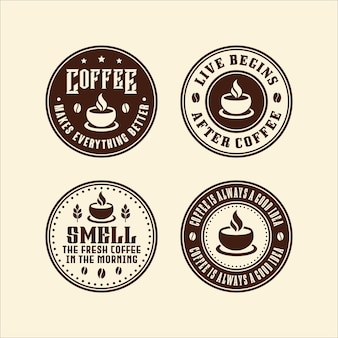 Collezione di logo del caffè del cerchio