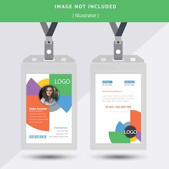 Cerchio colorato id card design