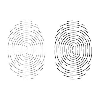 Icona dell'impronta digitale del cerchio isolata