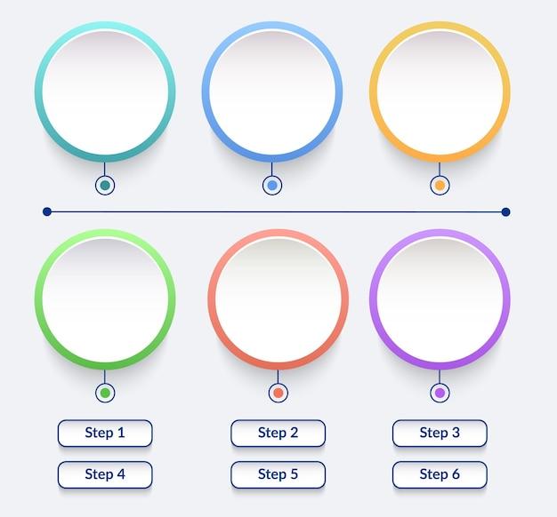 Elementi di infografica cerchio impostati in stile minimal