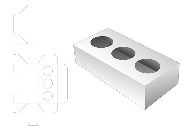 Il cerchio inserisce il modello fustellato della scatola del sostenitore