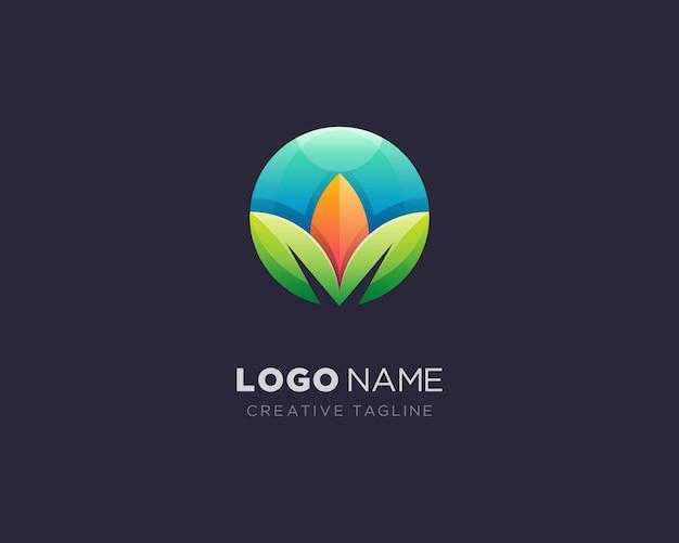 Logo foglia cerchio