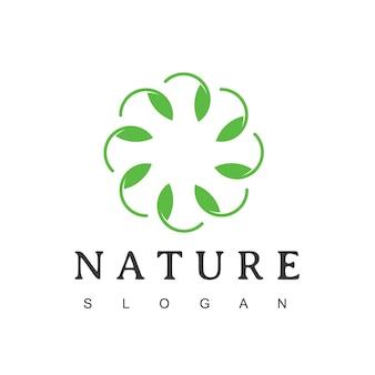 Cerchio foglia, logo ornamento della natura