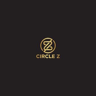 Modello di logo di lusso lettera cerchio z.