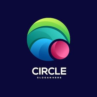 Illustrazione variopinta del gradiente del logo del cerchio