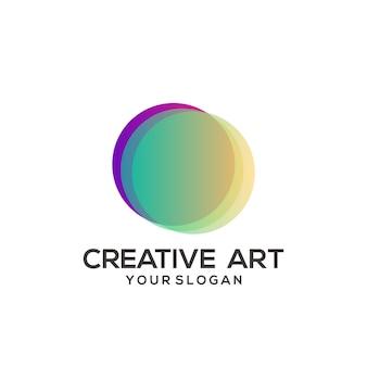 Design colorato sfumato con logo circolare