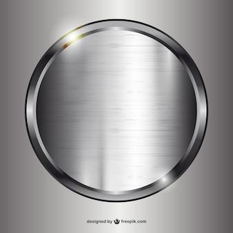 Cerchio di metallo Vettore Premium
