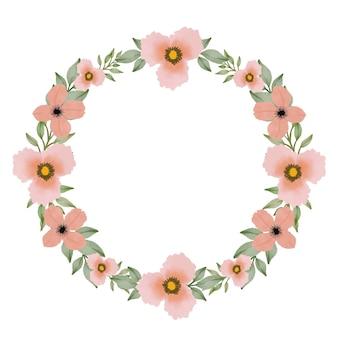 Cornice di fiori d'arancio cerchio per biglietto di auguri