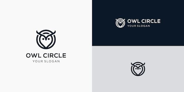 Ispirazione per il design del logo del gufo del cerchio