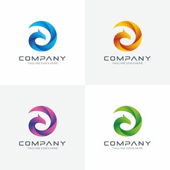 Logo design circle phoenix