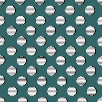Cerchio retrò modello di punti sfondo geometrico astratto illustrazione geometrica di vettore
