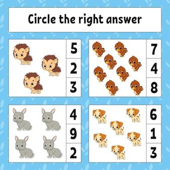 Cerchia la risposta giusta.
