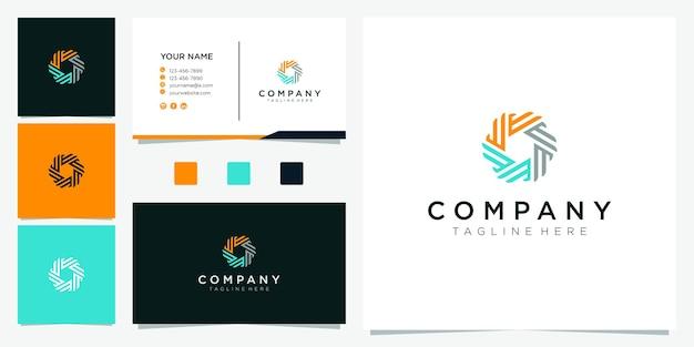 Design del logo a forma di cerchio. lettera e logo ispirazione