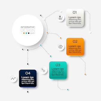 Il cerchio mostra i risultati sotto forma di diagramma, utilizzato per analizzare i dati e visualizzare i risultati in una presentazione. infografica.