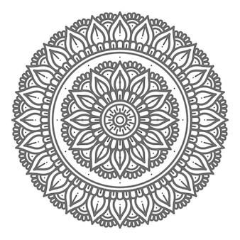 Illustrazione di mandala stile cerchio per la decorazione