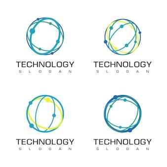 Modello di progettazione del logo della tecnologia del cerchio