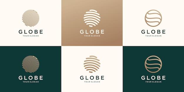 Modello di progettazione di logo di tecnologia del cerchio