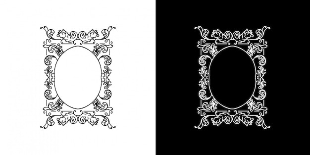 Circle victorian frame monoline