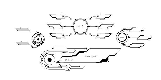 Scheda di circuito. sfondo di tecnologia. concetto centrale della cpu dei processori del computer. chip digitale della scheda madre. illustrazione vettoriale.