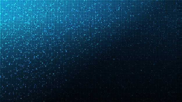 Tecnologia del circuito stampato su sfondo futuro, digitale hi-tech e comunicazione